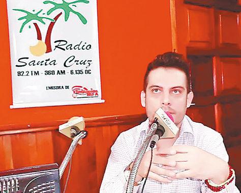 Cantante. Alejandro Delius declarará ante la Fiscalía en La Paz.