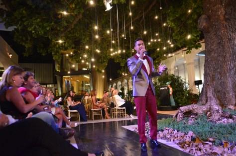 Cantante venezolano Rigú le dio el toque musical a la pasarela de moda