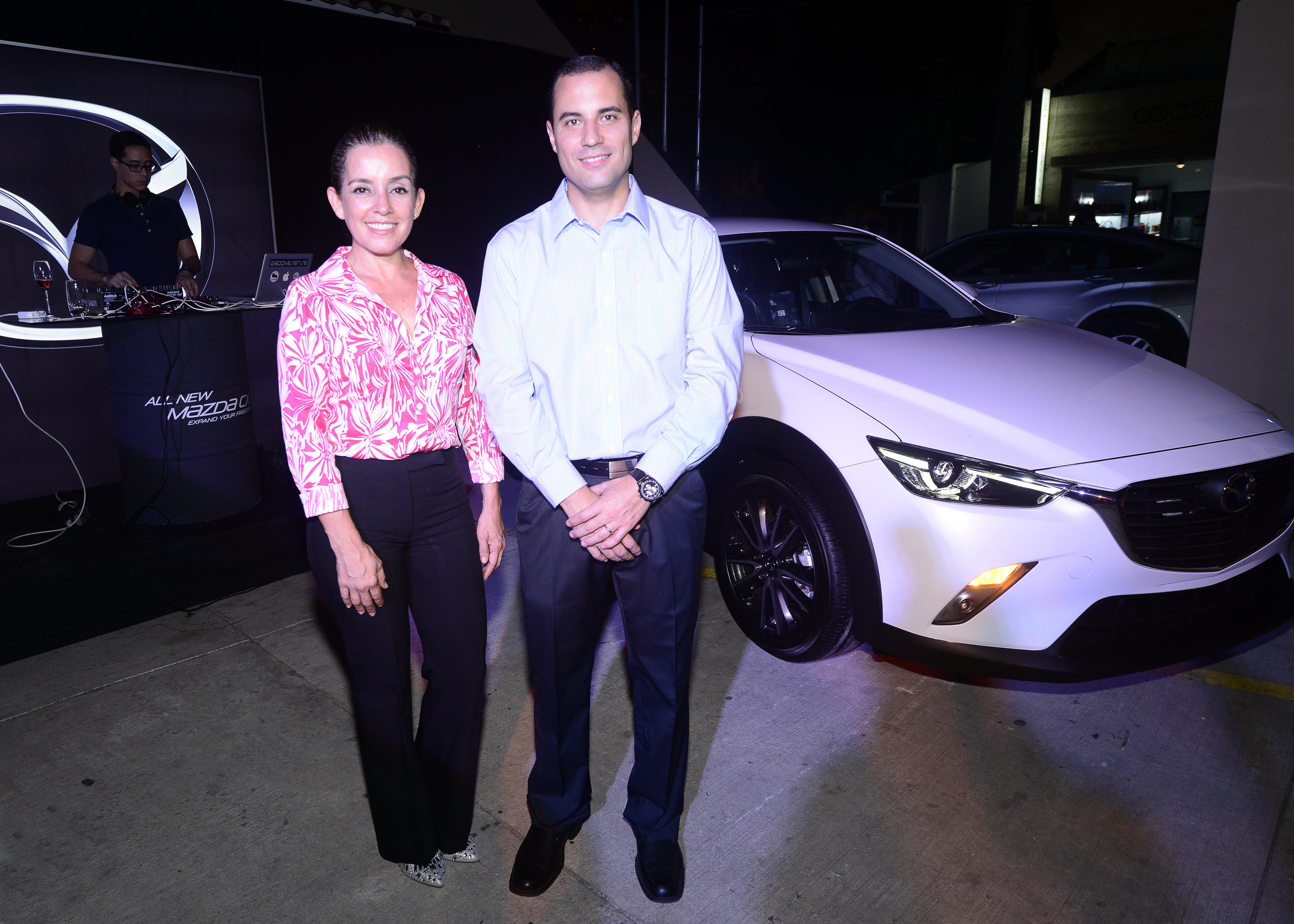 Mónica Fuertes y Jose Luis Asbun, Brand Manager Mazda
