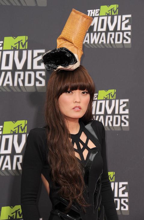 La actriz Hana Mae en MTV Movie Awards de 2013.