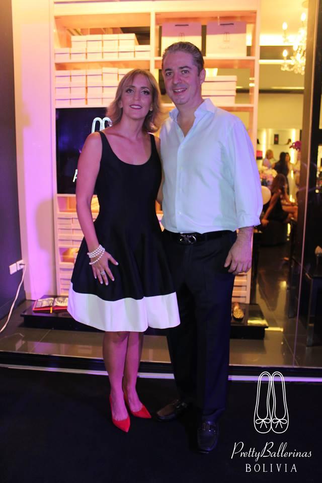 Federico Stelzer y Gabriela Barriga de Stelzer dueños de la boutique