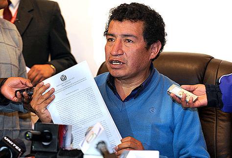 El diputado Víctor Borda, del MAS. Foto: Ángel Illanes