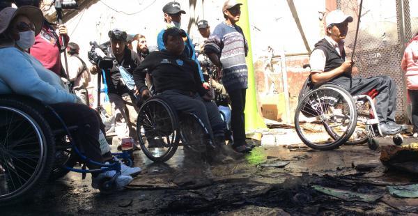 Para hoy se prevé que nuevamente las personas con discapacidad protagonicen más movilizaciones en La Paz.