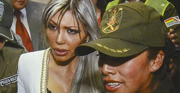Gabriela Zapata está en la cárcel