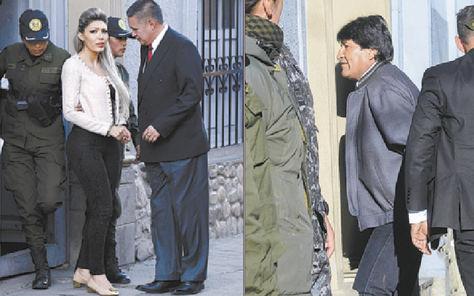 Examen. Zapata y Morales acudieron ayer al IDIFpara cumplir con la orden de la jueza Jacqueline Rada.
