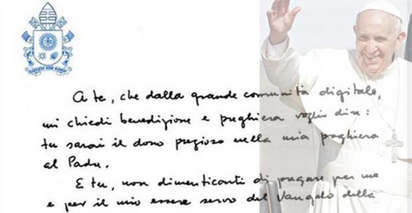 Este es el mensaje que el papa escribió a sus seguidores en la popular red social