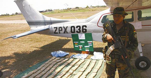 Esta es una de las avionetas descubierta en una hacienda en Beni y que operaba entre Perú y Bolivia.
