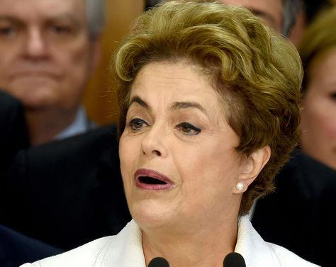 Dilma Rousseff al momento de dejar la presidencia de Brasil.