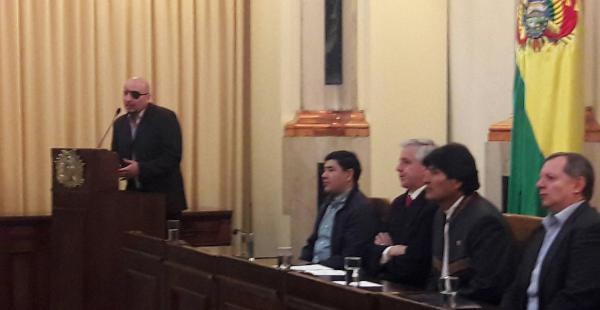 David Tezanos, durante su primer discurso como defensor del pueblo