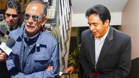 El exvocal Fernando Ganam y el abogado Milton Mendoza, ambos detenidos por el caso de consorcio de jueves y abogados.