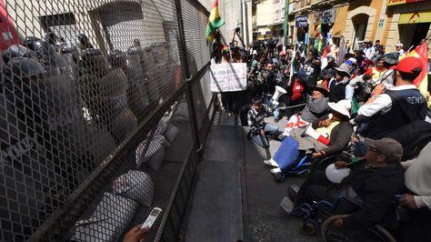 Las personas con discapacidad en una de sus movilizaciones. Foto: La Razón