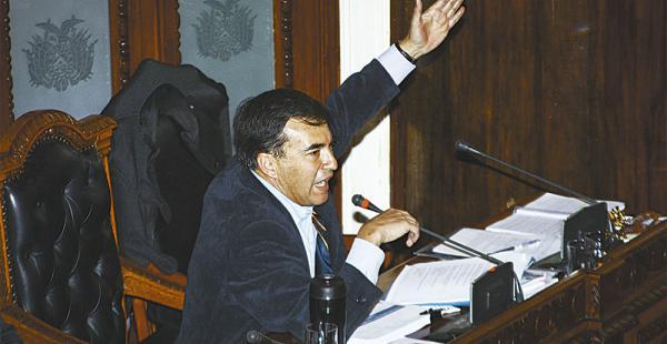 Juan Ramón Quintana utilizó más de tres horas y media para dar a conocer su posición