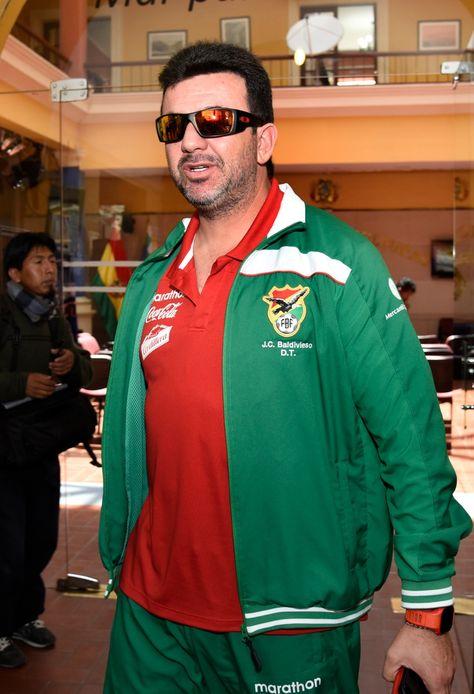 El seleccionador nacional Julio César Baldivieso.