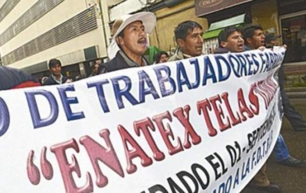 Fabriles y trabajadores de Enatex anuncian movilizaciones a partir de este lunes