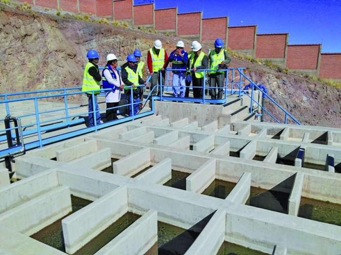 Una reciente visita a la planta de tratamiento de agua.