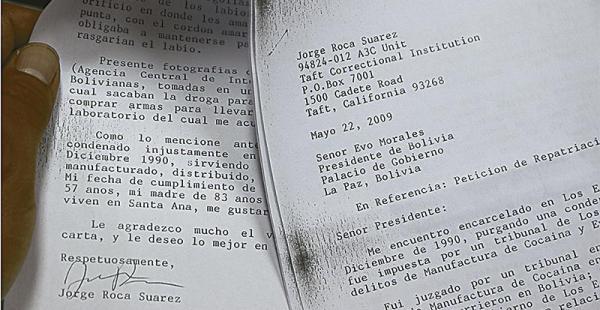 La carta con la firma de Jorge Roca que escribió a Evo Morales desde la cárcel de California ya forma parte del expediente de la Fiscalía