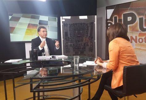 El ministro de la Presidencia, Juan Ramón Quintana, en entrevista con el programa