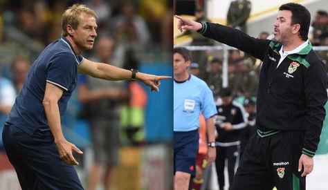 Jurgen Klinsmann (Estados Unidos) y Julio César Baldivieso (Bolivia).