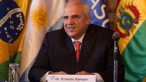 El secretario general de la Unión de Naciones Suramericanas, Ernesto Samper. Foto: AFP