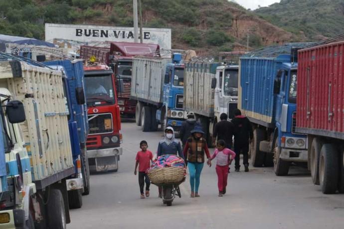 BLOQUEO. Sucre fue la ciudad más castigada en el país con el último bloqueo del transporte.