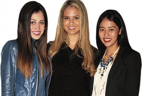 Ana Lucía Adad, Andrea Schmitz y Romy Chávez