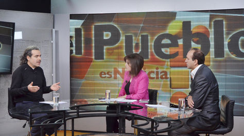 """El vicecanciller Juan Carlos Alurralde participó del programa """"El Pueblo es Noticia""""."""
