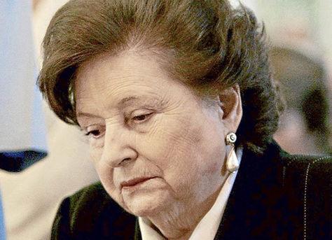 Lucía Hiriart, viuda del dictador chileno Augusto Pinochet.