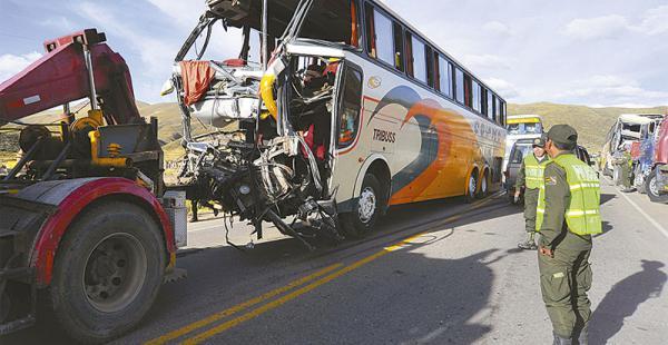 Según las estadísticas, en Bolivia anualmente unas 40.000 personas resultan heridas por accidentes viales