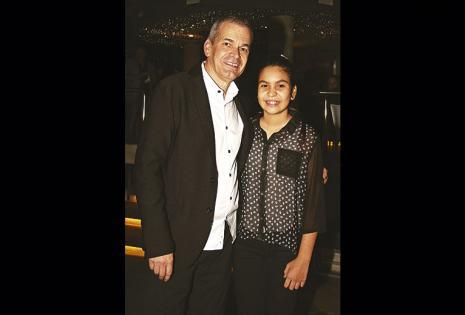 Markus Rüegg posó con su hija, Micaela, que lo acompañó en todo momento