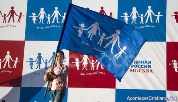 """Bandera del """"orgullo heterosexual"""" en Rusia"""