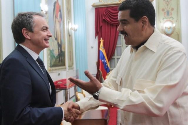 El 18 de mayo de 2016, Nicolás maduro recibió a José Luis Rodríguez Zapatero en el Palacio de Miraflores en Caracas / Minci