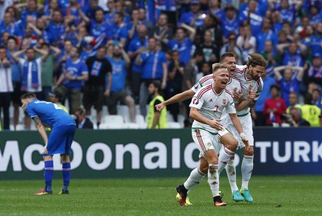 Football Soccer - Iceland v Hungary - EURO 2016 - Group F - Stade Vélodrome, Marseille, France - 18/6/16 Hungary