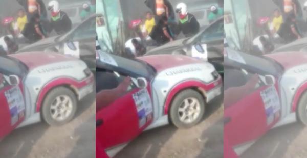 En la gráfica se pueden ver a los vehículos involucrados en el accidente