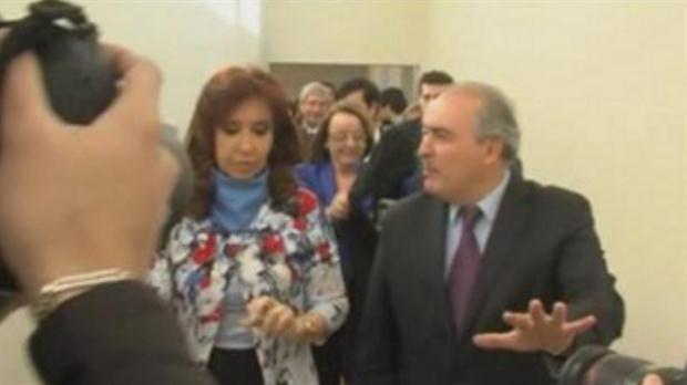 La ex presidenta Cristina Kirchner con el ex funcionario José López