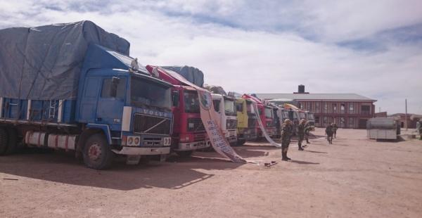 Los camiones fueron llevados a instalaciones aduaneras