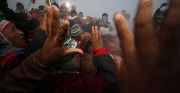 La celebración en Samaipata. (Foto: J. Uechi)