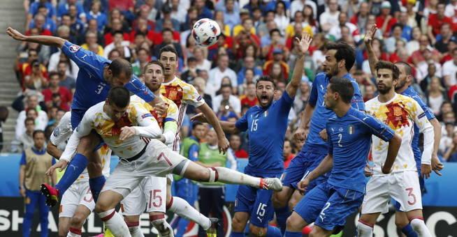 La zaga italiana fue inexpugnable de principio a fin. (EFE)