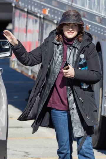 La actriz Winona Ryder, el pasado febrero durante el rodaje de su última película,