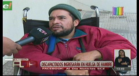 Discapacitados ingresarán en huelga de hambre