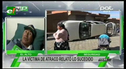 El Alto: Atracan y hieren de bala a funcionario de surtidor