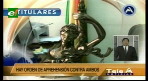 Titulares de TV: Fiscalía General activa orden de captura internacional contra los ex abogados de Zapata