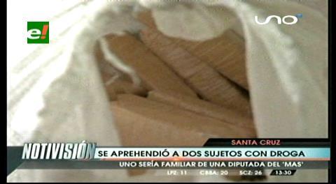 Felcn detiene a dos sujetos en posesión de 20 kilos de cocaína