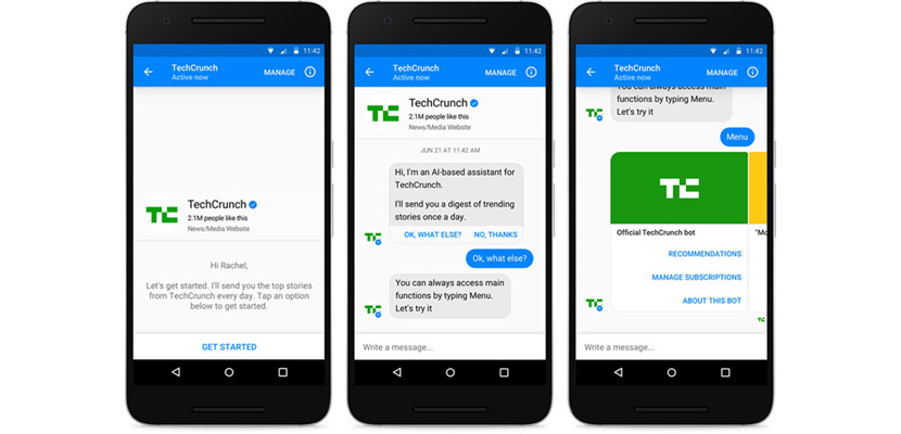 Facebook Messsenger chatbot