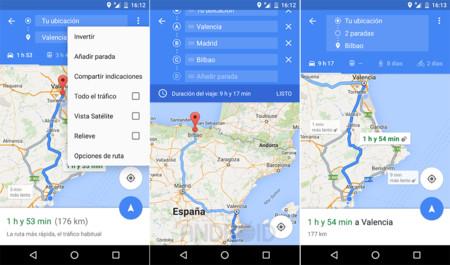 Google Maps Paradas