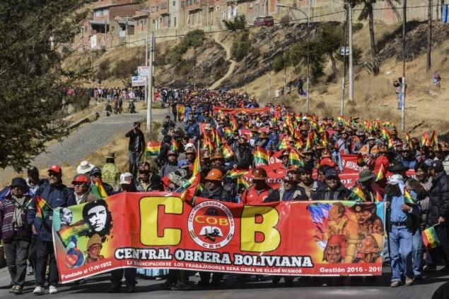 La marcha de la COB. (APG)