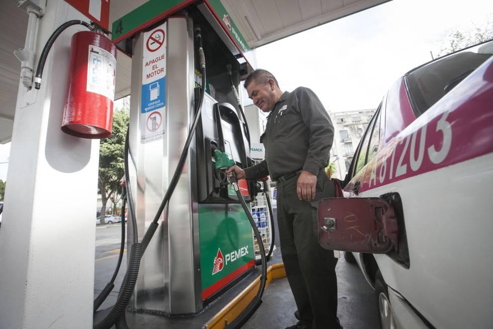 Una estación de gasolina en la Ciudad de México.