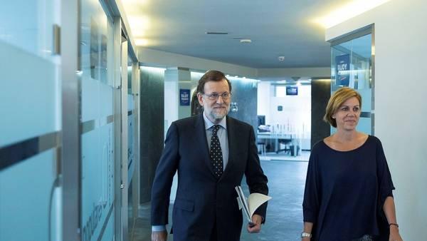 Reuniones. Mariano Rajoy continuó hoy con su ronda de diálogos para formar gobierno en España (EFE)
