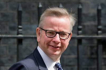 Michael Gove, ministro de Justicia, quedó fuera de juego, en la sucesión de David Cameron. / ap