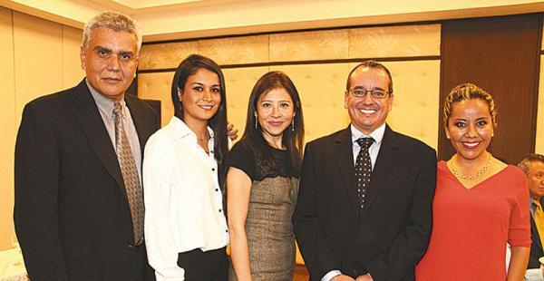 LOS PERSONAJES DEL CONGRESO. Gonzalo Uribe, Freddy Mendoza, Carlos Flores, Olvis Álvarez, Jorge Ravelo y Miguel Hirschhaut