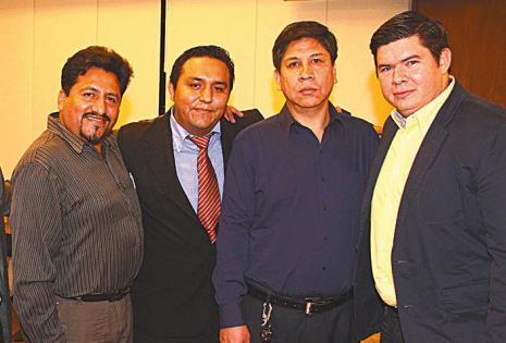 AMIGOS. Alexandro Araoz, Félix Victoria, Marcos Forquera       y Andrés Ribera